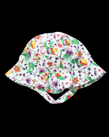 Botanical Print Cotton Sun Hat