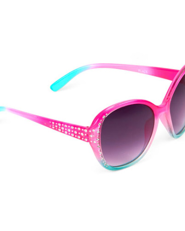 Toddler Girls Faceted Oval Sunglasses