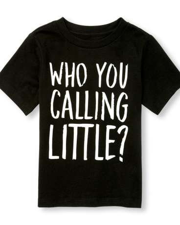 Toddler Boys Short Sleeve Glow-In-The-Dark 'Who You Calling Little' Graphic Tee