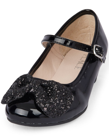 Girls Glitter Bow Suri Shoe