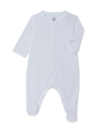 Baby sleepsuit in printed tube cotton