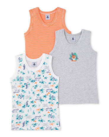 Pack of 3 boy's vest tops