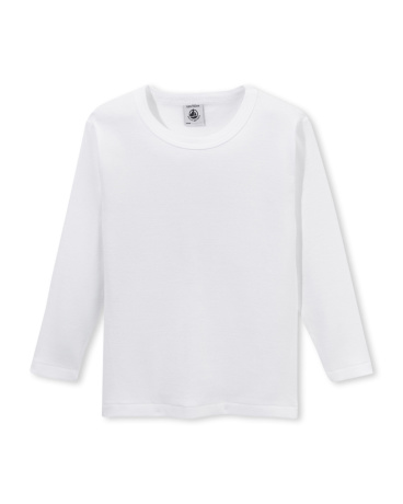 Boy's long-sleeved plain t-shirt