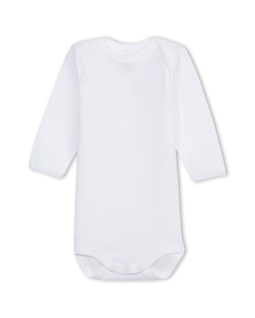Unisex baby plain long-sleeve bodysuit