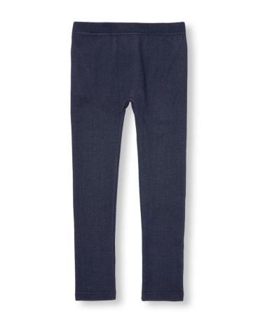 Girls Denim Fleece-Lined Leggings