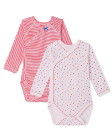 Pack of 2 newborn baby girl bodysuits