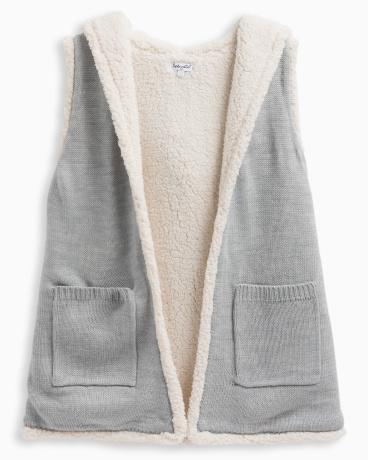 Girl Hooded Sherpa Vest