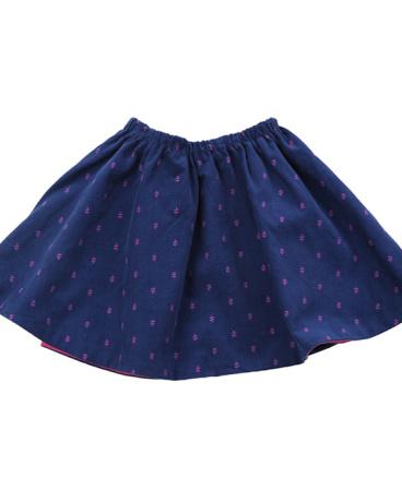 Farrah Reversible Corduroy Skirt