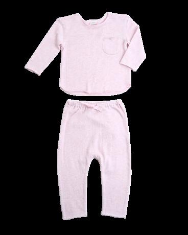 Pink Sweater Knit Lounge Set