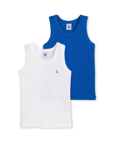 Set of 2 boy's plain tank tops