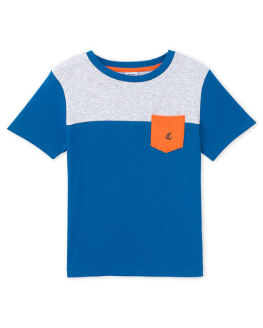 Boys' three-colour T-shirt