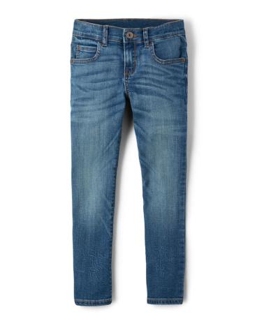 Boys Super Stretch Skinny Jeans - Vintage Blues Wash