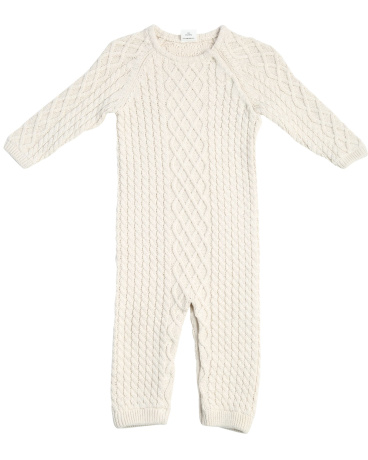 Earthy Oat Cable Knit Layette