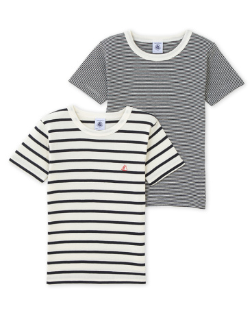 Pack of 2 boy's striped tees