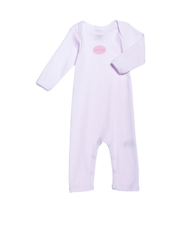 Baby girl long-legged bodysuit in milleraies stripe