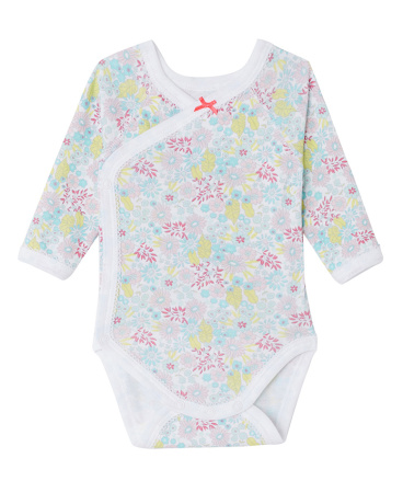 Newborn baby girl printed bodysuit