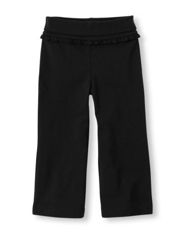 Toddler Girls Foldover Knit Pants