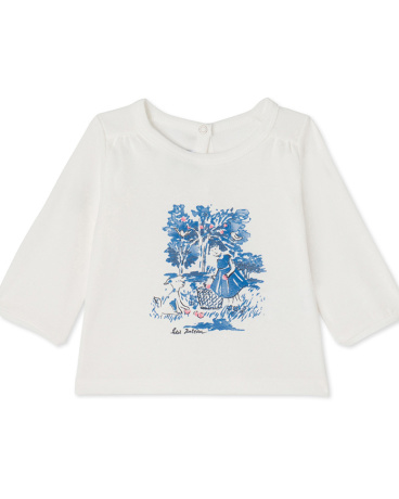 Baby girls' long-sleeved tee