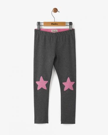 Glitter Charcoal Stars Leggings