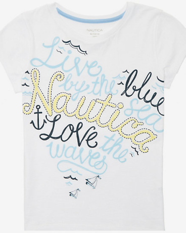 Little Girls' Love The Waves Tee (2T-7)