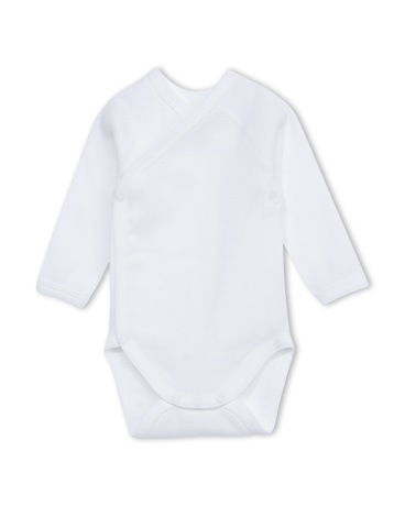 Unisex newborn plain long-sleeve bodysuit