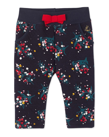 Baby girl's printed double knit pants
