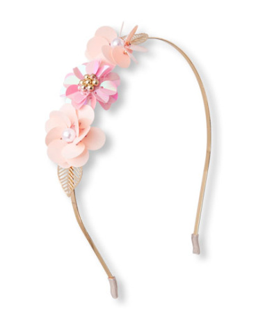 Girls Embellished Flower Headband