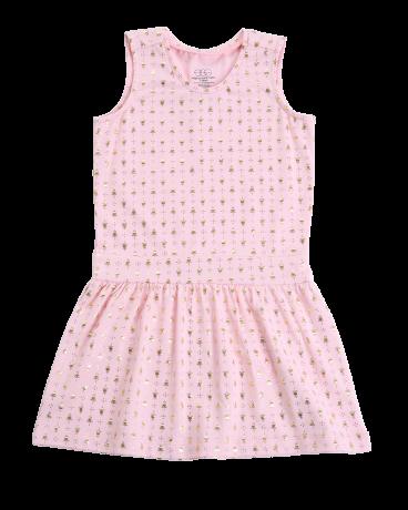Drop Waist Pleated Dress