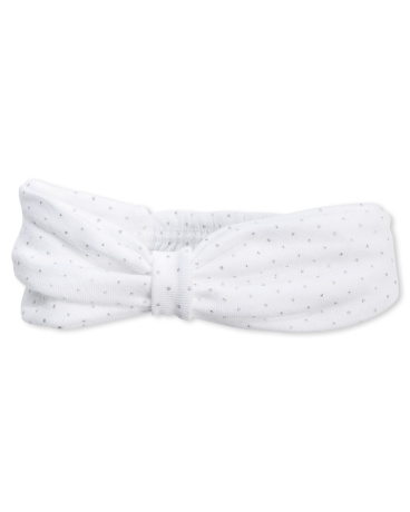 Baby girls' flocked polka dot hair band
