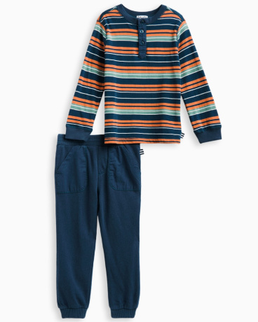 Little Boy Stripe Jersey Set