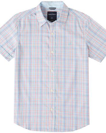 Boys' Plaid Short Sleeve Shirt (8-16)