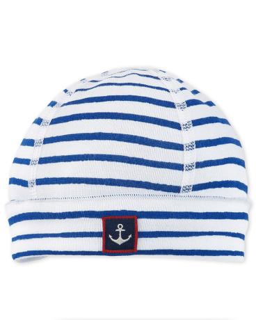Newborn baby boy decorative striped hat