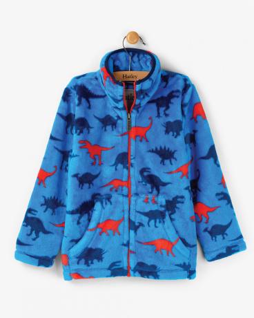 Dinosaur Shapes Fuzzy Fleece Jacket