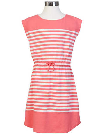 Girls' Striped Drawstring Dress (8-16)