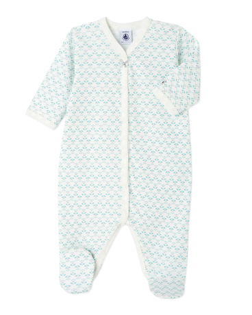 Baby girl's patterned sleeper