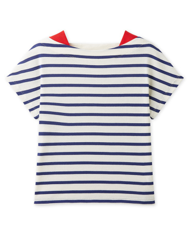Girl's striped lightweight jersey t-shirt