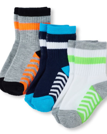 Toddler Boys Chevron Midi Socks 3-Pack