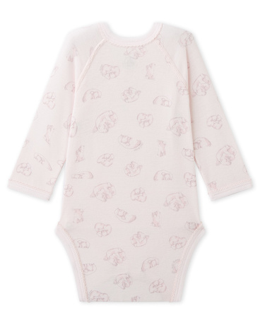 Newborn baby's printed long-sleeved bodysuit