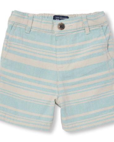 Toddler Boys Stripe Herringbone Woven Shorts