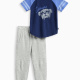 Little Boy Athletic Set with Brushed French Terry Pant