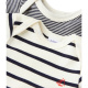 Pack of 2 baby boy striped bodysuits
