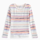 Girl Chalk Stripe Loose Knit Sweater