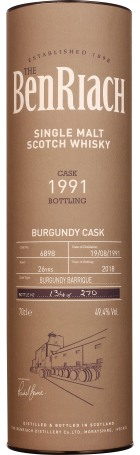 Benriach 26 years 1991 Burgundy Cask 70cl