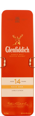 Glenfiddich 14 years Rich Oak Giftset 70cl