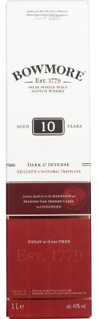 Bowmore 10 years Single Malt Dark & Intense 1ltr