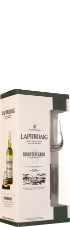 Laphroaig Quarter Cask Glass & Slate Coaster Giftset 70cl