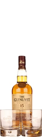 The Glenlivet 15 years Giftset 70cl
