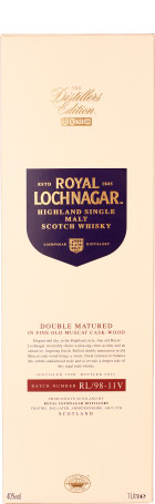 Royal Lochnagar Distillers Edition 1998/2011 1ltr