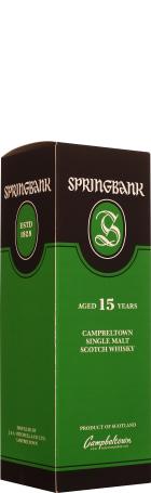 Springbank 15 years Single Malt 70cl