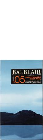 Balblair Vintage 2005 1st Release Single Malt 70cl